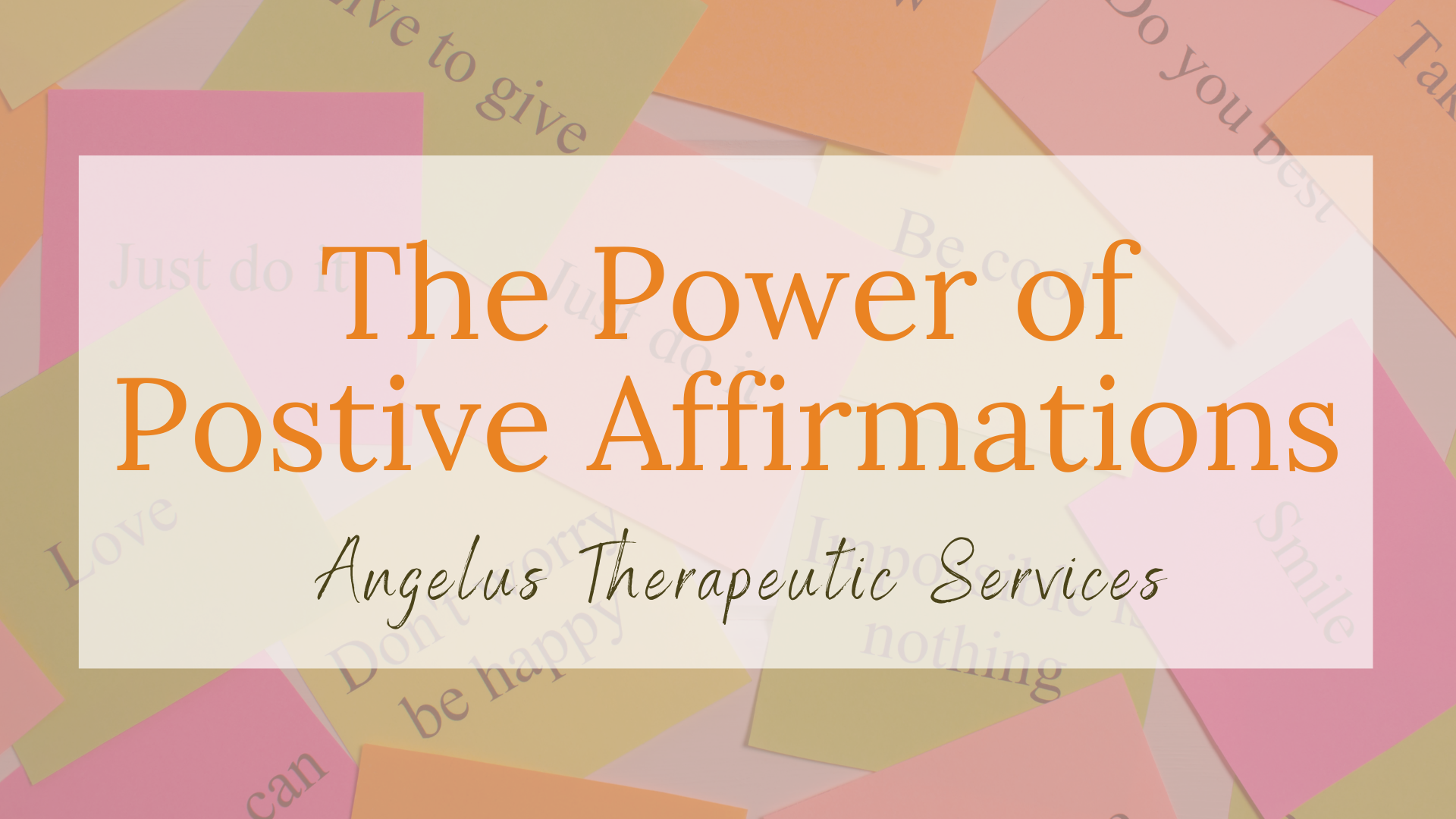 importance of affirmations for positive mental health